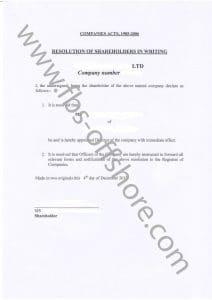 Решение о назначении директора (Resolution of Shareholders)