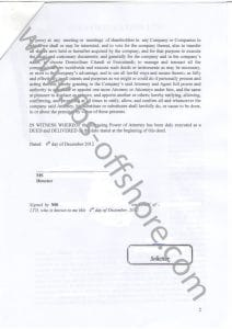 Генеральная доверенность, стр. 2 (GeneralPower of Attorney)