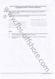 Форма передачи акций, стр. 2 (Stock Transfer Form)