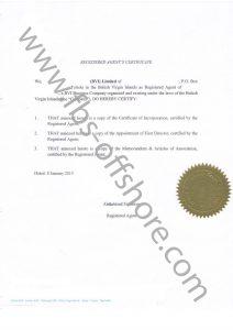 Сертификат регистрационного агента