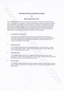 Протокол первого (учредительного) собрания директоров, стр.1 из 2