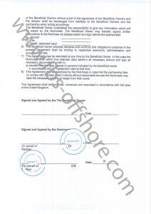 Договор о предоставлении номинального сервиса стр.2