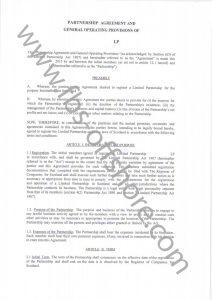 Соглашение о партнерстве стр.1